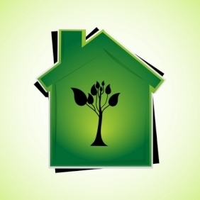 Green Home - vector gratuit #213907