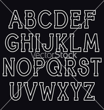 Free serif font vector - vector #213967 gratis