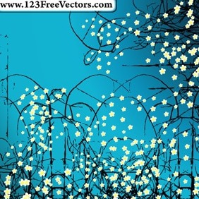Flower Abstract Background Vector - Free vector #214227