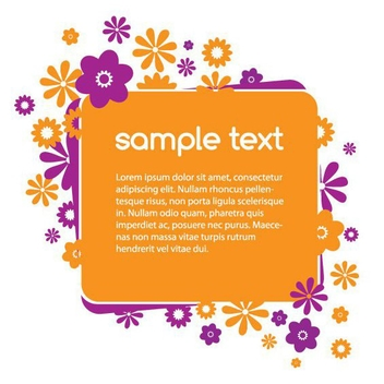 Banner With Flowers - Free vector #214407