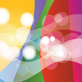Transparent Waves In Colored Background - vector #214637 gratis