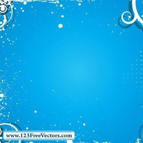 Swirl Grunge Frame Vector - vector #214817 gratis
