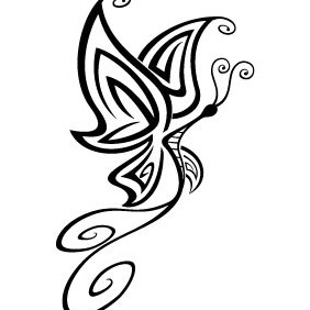 Tattoo Butterfly Vector - Free vector #214877
