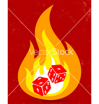 Free dice fire vector - Free vector #214887