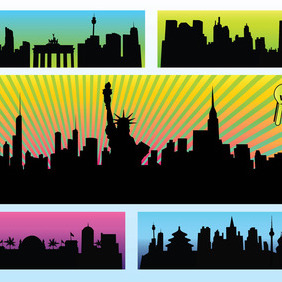 City Vectors - vector #215337 gratis