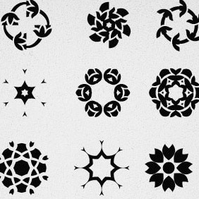 45 Free Decorative Vector Elements All In One Set - Free vector #215597
