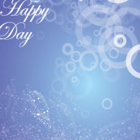Happy Day Blue Background Vector Graphic - Kostenloses vector #215687