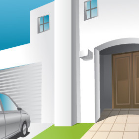 House Entrance - vector gratuit #215717
