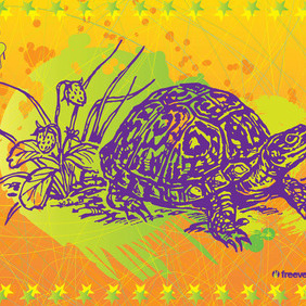 Turtle Vector Art - Free vector #215777