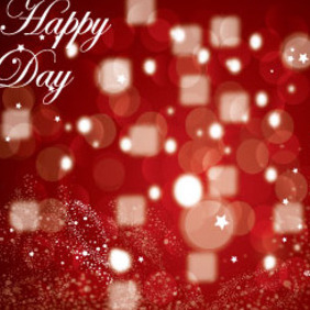 Happy Day Red Background Vector Graphic - Free vector #215837