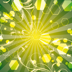 Green Life Swirls Art Vector Line - Free vector #215947