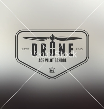 Free drone vintage style label vector - Free vector #216037