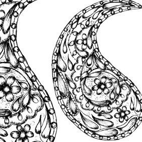 Sketchy Paisley - бесплатный vector #216087