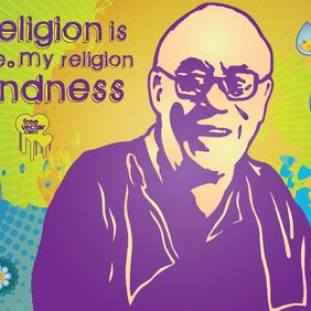 Dalai Lama - Free vector #216097