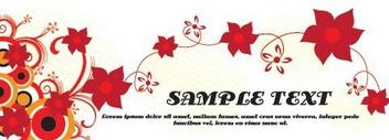 Flowery Banner Design - Free vector #216147