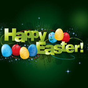 Happy Easter Vector - vector gratuit #216387