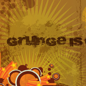 Grunge Brown Background - vector gratuit #216557