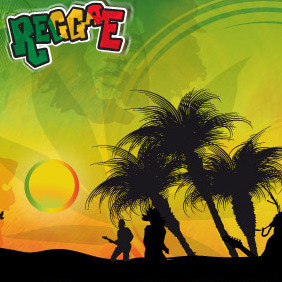 Reggae Background - Free vector #216657