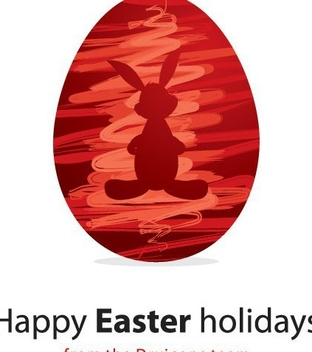 Happy Easter Holidays - vector gratuit #216797