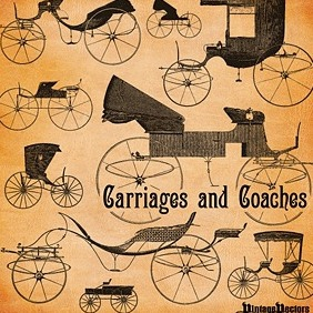 Old Carriages And Coaches - Free vector #216817