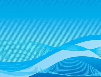 Wavy Blue Background - vector gratuit #216937
