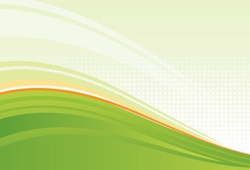 Wavy Green Background - vector gratuit #217027
