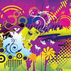 Colorful Summer Vector - vector gratuit #217067
