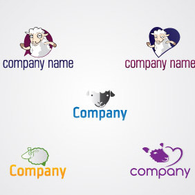 Lovely Sheeps Logo Pack - Free vector #217357
