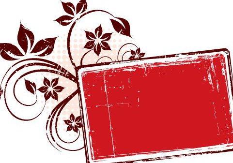 Cadre Grungy rouge - vector gratuit #217437