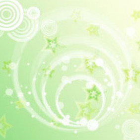 Green Stars Background Vector Graphic - Free vector #217537