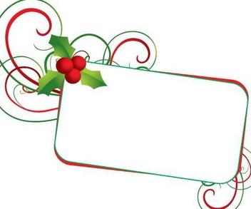 Christmas Mistletoe Banner - vector gratuit #217557