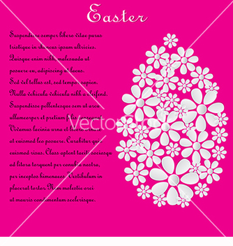 Free pink card with the text for easter vector - Free vector #217757