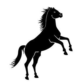 Black Wild Horse Vector - Free vector #217857