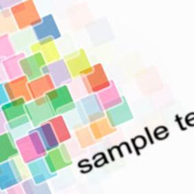 Colorful Square Element Vector Design - Kostenloses vector #217907
