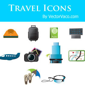 Travel Icons - Free vector #218077