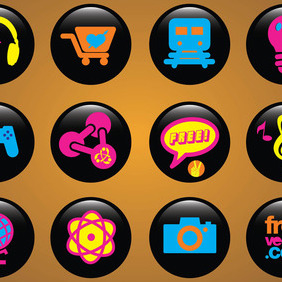 Icons Buttons - vector gratuit #218087