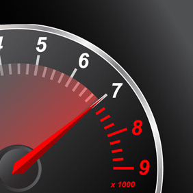 Red Speedometer - vector gratuit #218187