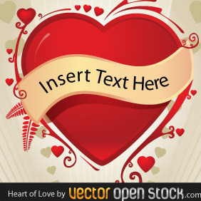 Love Heart By Vectoropenstock - Kostenloses vector #218227