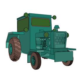 Vector Tractor - vector #218277 gratis