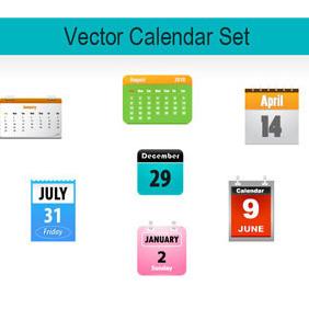 Calendar Icons - vector gratuit #218517