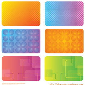 Colorful Business Cards 2 - vector gratuit #218527