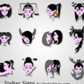 Zodiac Signs - Free vector #218697