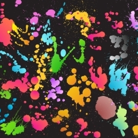 Colourful Splat Background - Kostenloses vector #218867
