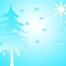 Winter Illustration - vector gratuit #218917