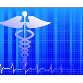 Medical Blue Background - Free vector #219027