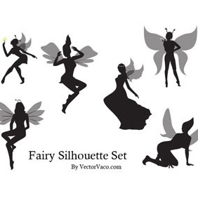 Fairy Silhouette - Free vector #219117