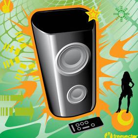Music Speaker - Free vector #219227