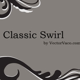 Classic Swirl - vector gratuit #219347
