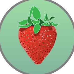 Strawberry Fruit Vector Image - бесплатный vector #219367