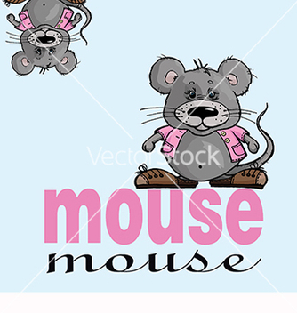 Free beautiful card with text and mouse vector - Free vector #219457